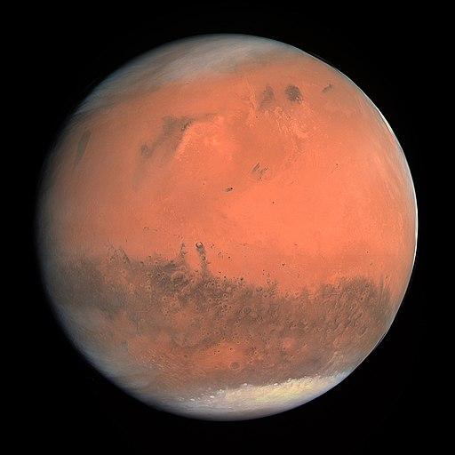 Marte fotografato dal telescopio Osiris della navicella dell'ESA Rosetta