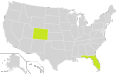 Objectivist Party Ballot Access Locator Map, 2012 (United States of America).png