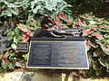 Officer Down mini sculpture with sign behind Florida's Historic Capitol.JPG