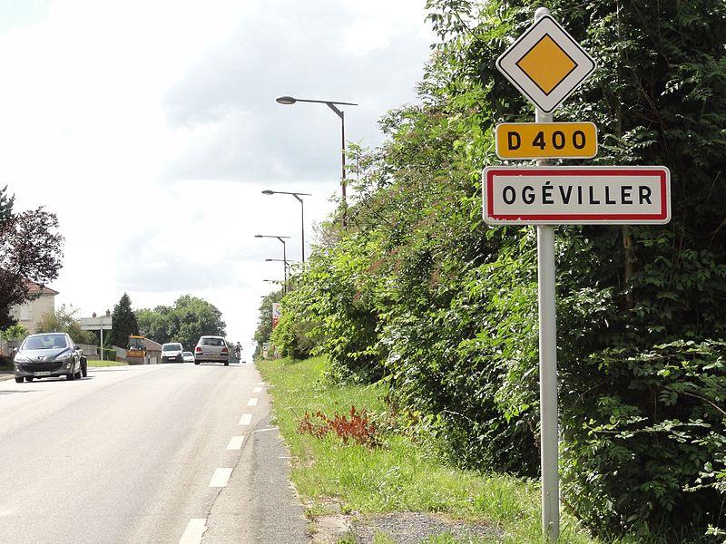 Ogéviller (M-et-M) city limit sign