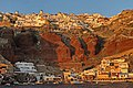 Oia dal battello al tramonto - Santorini - Grecia - agosto 2018.jpg