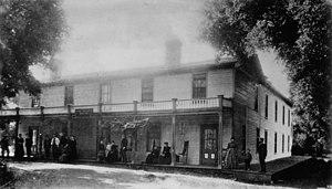 Ojai, California - Ojai Inn, built in 1876. Photo taken in 1880s.