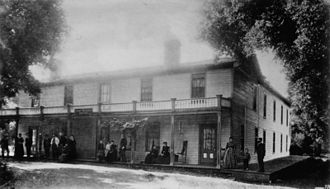 Ojai, California - Ojai Inn, built in 1876. Photo taken in 1880s.
