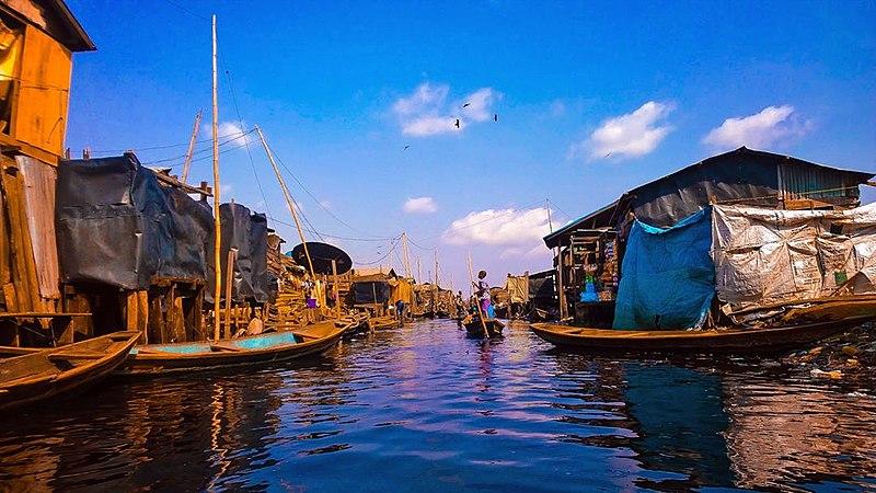 Urban slums in Makoko