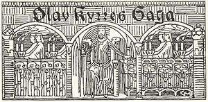 Olaf III of Norway - Gerhard Munthe: illustration for Olav Kyrres saga in Heimskringla (1899)