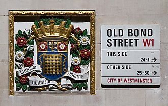 City of Westminster - Historic coat of arms of Westminster, in Old Bond Street