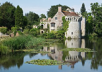 Scotney Castle - The old castle from the south-west