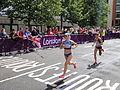 Olena Burkovska (Ukraine) Lidia Simon (Romania) - London 2012 Women's Marathon.jpg