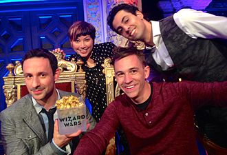 "Wizard Wars - Season 1.5 ""Wizards"" Justin Flom, Shimshi, and Billy Kidd pictured with show creator Rick Lax"
