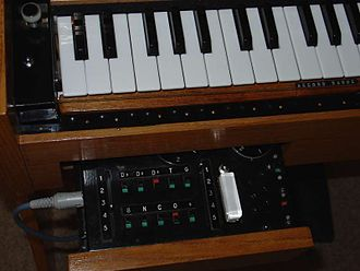 Ondes Martenot - The tiroir of a 1975-model ondes
