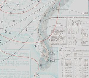 1914 Atlantic hurricane season - Image: One 1914 09 16 weather map