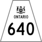 Highway 640 shield