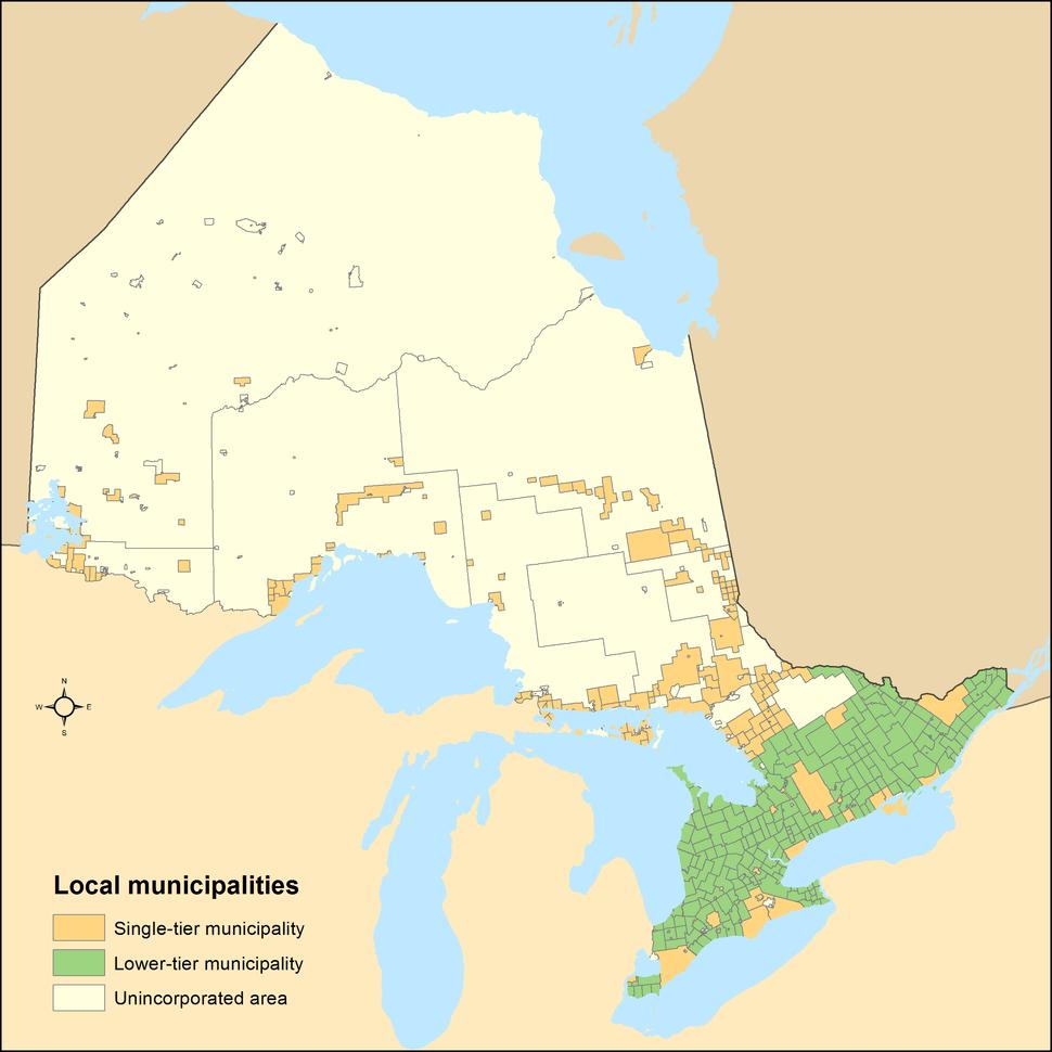 Ontario local municipalities