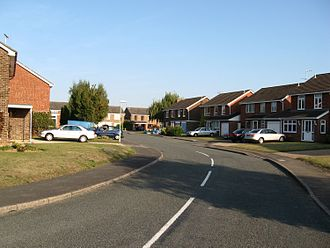 Capel St. Mary - A road demonstrating the open-plan layout of the new houses