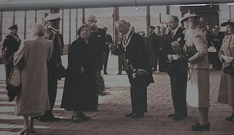 Amsterdam Amstel station - Opening by Queen Wilhelmina (1939).