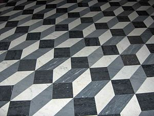 This is a picture of floor tiles in Basilica o...