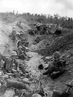 Battle of Peleliu - 5th Marines on Orange Beach