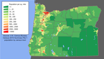Oregon population map 2000