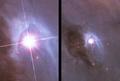 Orion Nebula - Hubble 2006 mosaic comparison.png