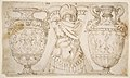 Ornamental Design with Amphore and Antique Style Armor (recto); Sketch with Two Figures (verso) MET DP811250.jpg