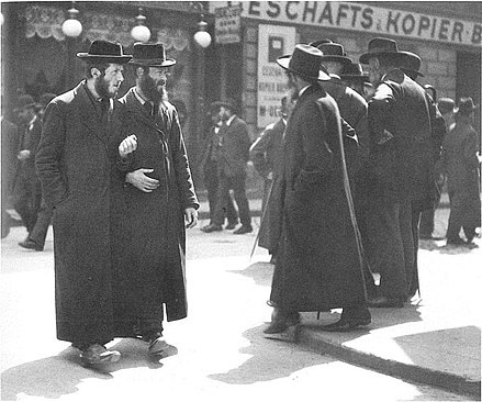 Orthodox Jews from Galicia in Leopoldstadt, Vienna, 1915 Orthodox Jews in Leopoldstadt 1915.JPG