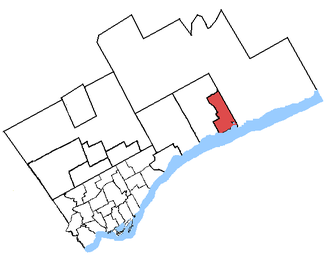 Oshawa (electoral district) - Oshawa in relation to other greater Toronto ridings (2003 boundaries)