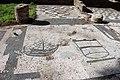 Ostia, piazzale delle corporazioni, mosaici, nave e moggio 01.JPG