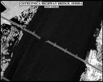 Ostruznica motorway bridge after an Allied air raid