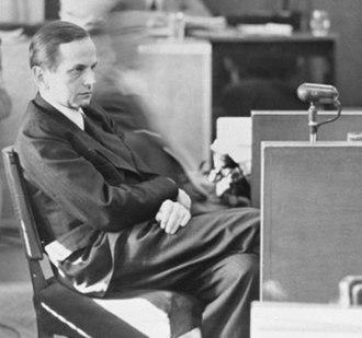 Einsatzgruppen trial - Image: Otto Ohlendorf Testimony