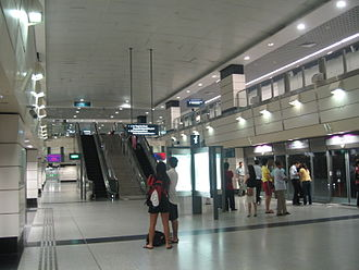 Outram Park MRT station - Platform of the North East Line Outram Park station.