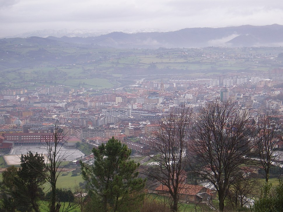 Oviedo desde las faldas del Naranco
