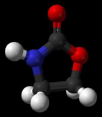 2-Oxazolidone - Image: Oxazolidin 2 one 3D balls