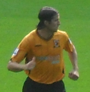 Péter Halmosi - Halmosi playing for Hull City in 2009