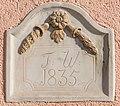 Pörtschach Hauptstraße 203 Reliefstein mit Inschrift F. W. 1835 06022016 0517.jpg