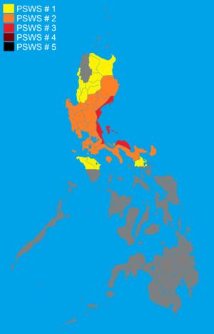 Typhoon Conson (2010) - Highest public storm signals raised by PAGASA