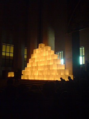 "Long Night of Museums - Artistic performance ""Light and gravitation"" at National Museum in Warsaw (Night of Museums, 2007)"