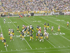 2004 Green Bay Packers season - The team leaving the field after the inter-squad scrimmage in preseason, August 2004