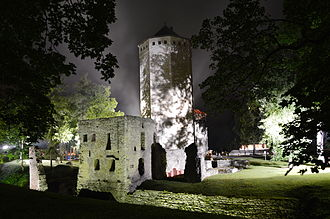 Paide - Paide castle at night