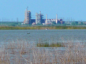 Paint Creek, Texas - Paint Creek Power Plant at Lake Stamford