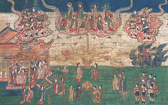 Manichaeism - Yuan Chinese silk painting Mani's Birth.