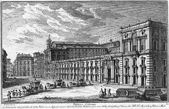 Palazzo Colonna - Palazzo Colonna in 1748