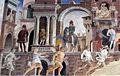Palazzo schifanoia, salone dei mesi, 04 aprile (f. del cossa), Borso assiste al Palio di San Giorgio e dà moneta al buffone Scoccola 06 1.jpg