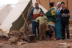 Palestinians in Iraq - Palestinian Iraqi IDP family near Jordanian border