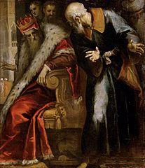 Prophet Nathan ermahnt König David
