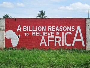 Pan-Africanism - A mural in Ujiji, Tanzania.