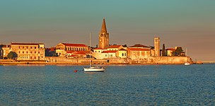Panorama of Porec - Parenzo at dawn.jpg