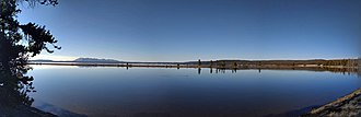 Yellowstone Lake - Panorama of the West Thumb area of Yellowstone Lake in 2018.