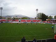 Panserraikos FC football pitch.JPG