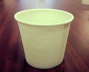 Disposable cup - A disposable paper cup