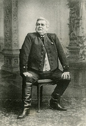 The Government Inspector - Anton Antonovich, played by Fyodor Paramonov, has many reasons to be worried about a visit from the inspector general (Maly Theatre (Moscow), 1905.